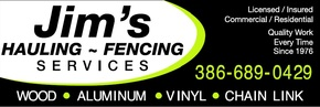 Jim's Hauling and Fence Fence Companies