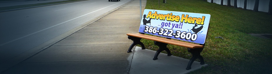 Daytona Beach Bench Advertising